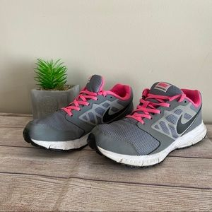 NIKE Downshifter 6 Pink Gray Sneakers